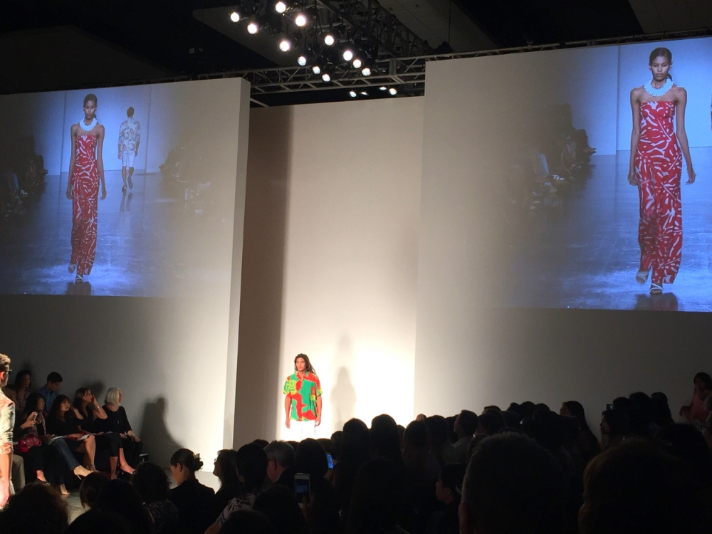 The first runway show at Honolulu Fashion Week: Live Aloha
