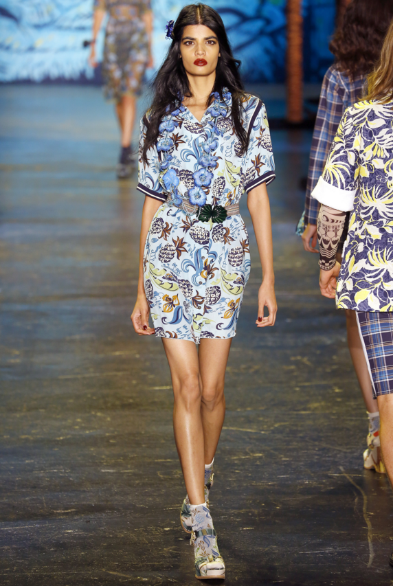 aloha attire at Anna Sui spring summer 2016.png