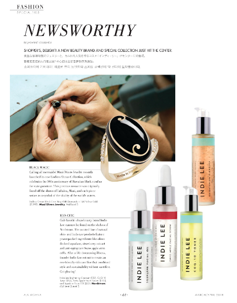 ALA MOANA SHOPPING MAGAZINE: NEWSWORTHY - A new collection from Maui Divers and the natural beauty brand Indie Lee hit the Center.