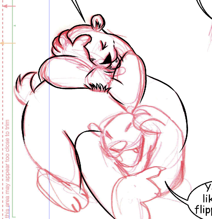 Rough pencils on my bears -- really rough! Look at that awful foot!