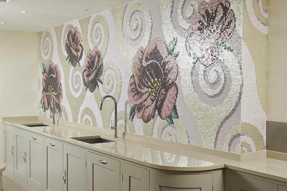 Amazing mosaic feature wall