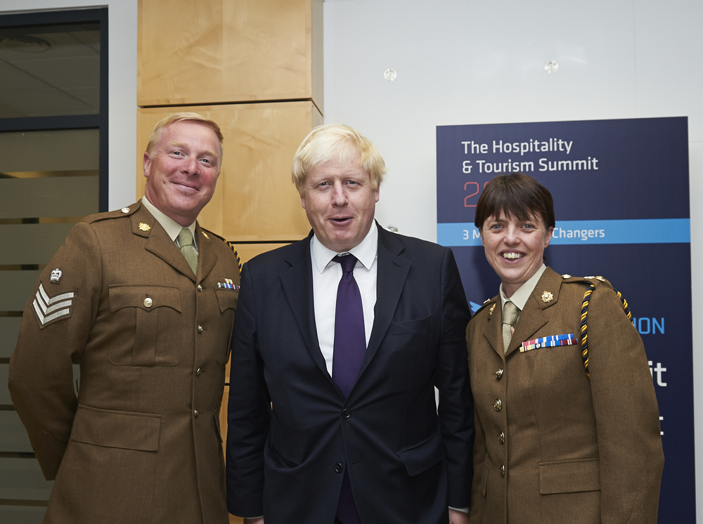 A couple of very nice Army reservists along with Boris. Their regiment is the only catering corps in the Army reserves.
