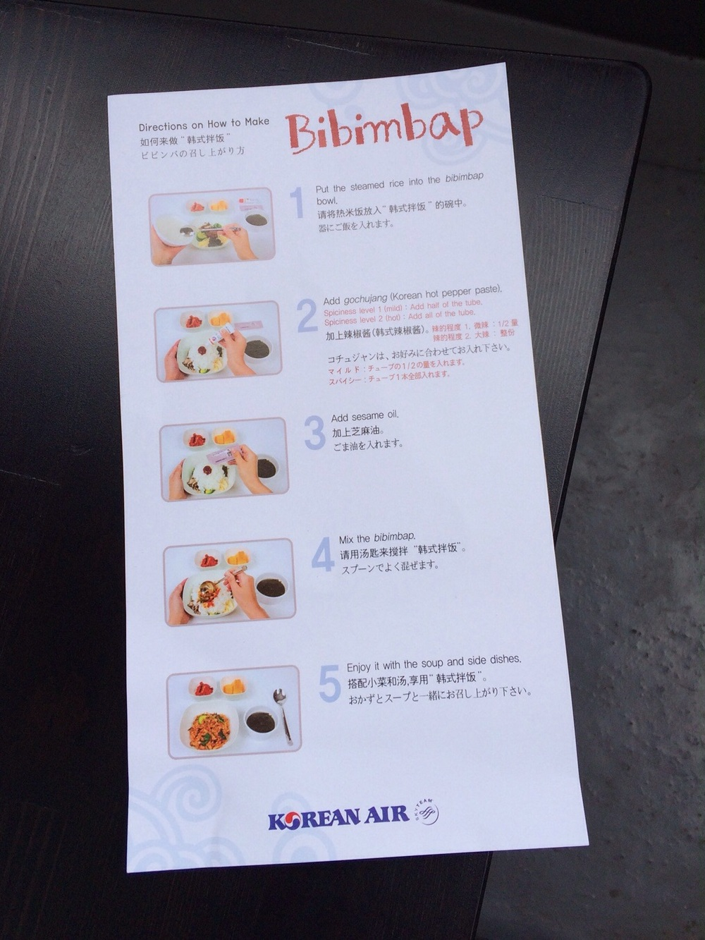 Bibimbap instructions for the uninitiated.