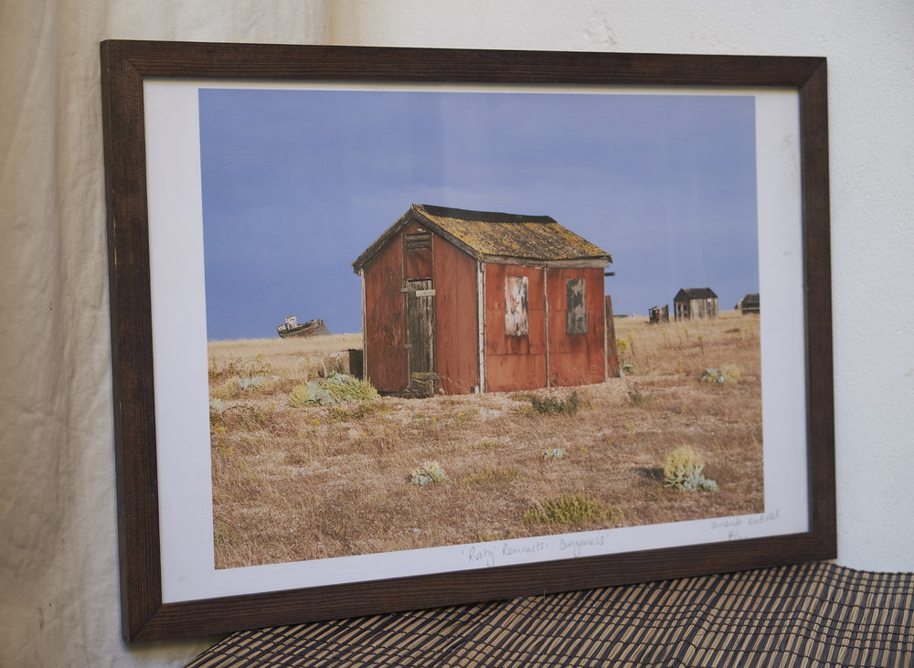 "Rusty Remnants **SOLD** A firm favourite. This is number 4/25. Shot in the golden light of Dungeness. Frame Size approx. 19 x 13"" COST £40 **SOLD**"