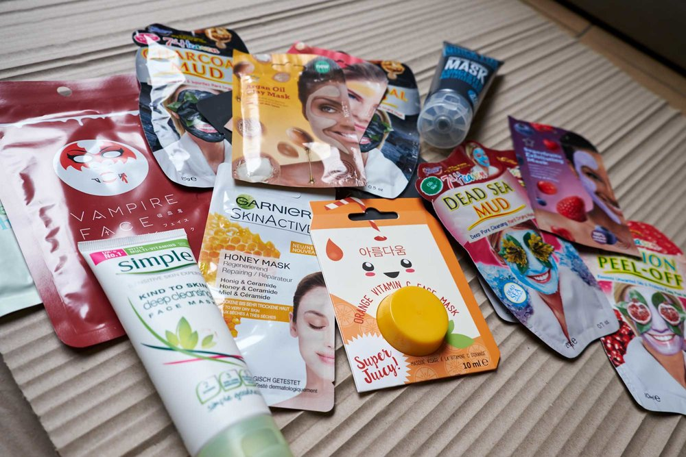 For the face packs I visited lots of stores including John Lewis, Boots, Superdrug (who offered the most choice), even Topshop, not to forget Japan!