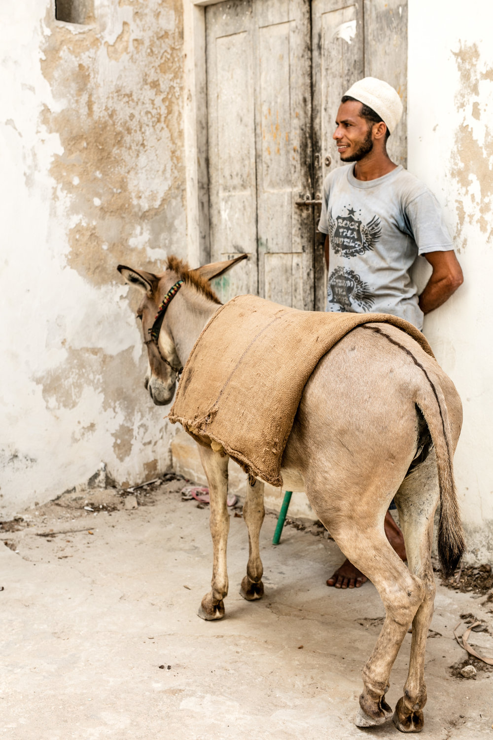 Khalid and his taxi service in Lamu Town