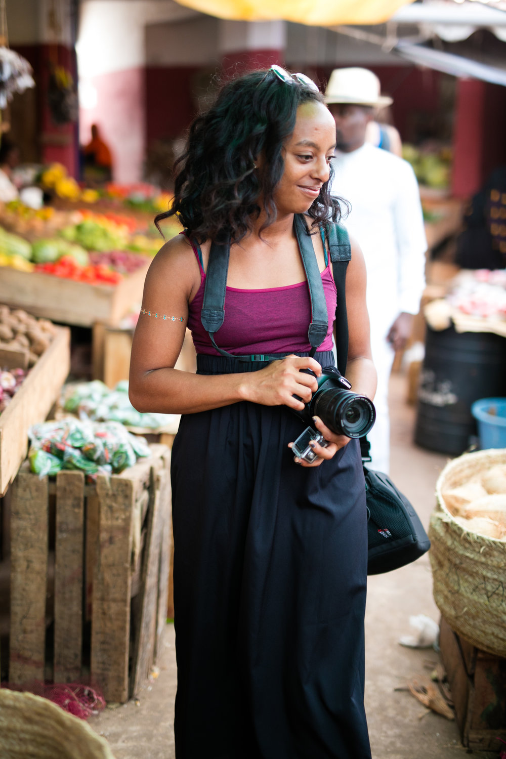Katarina exploring the market in Lamu Town