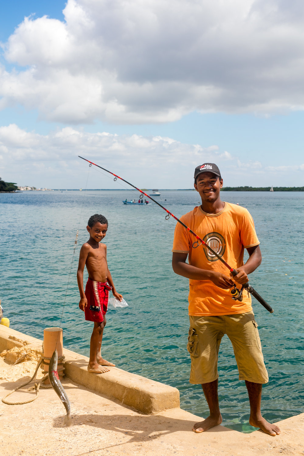 Fisherman outside Forodhani House