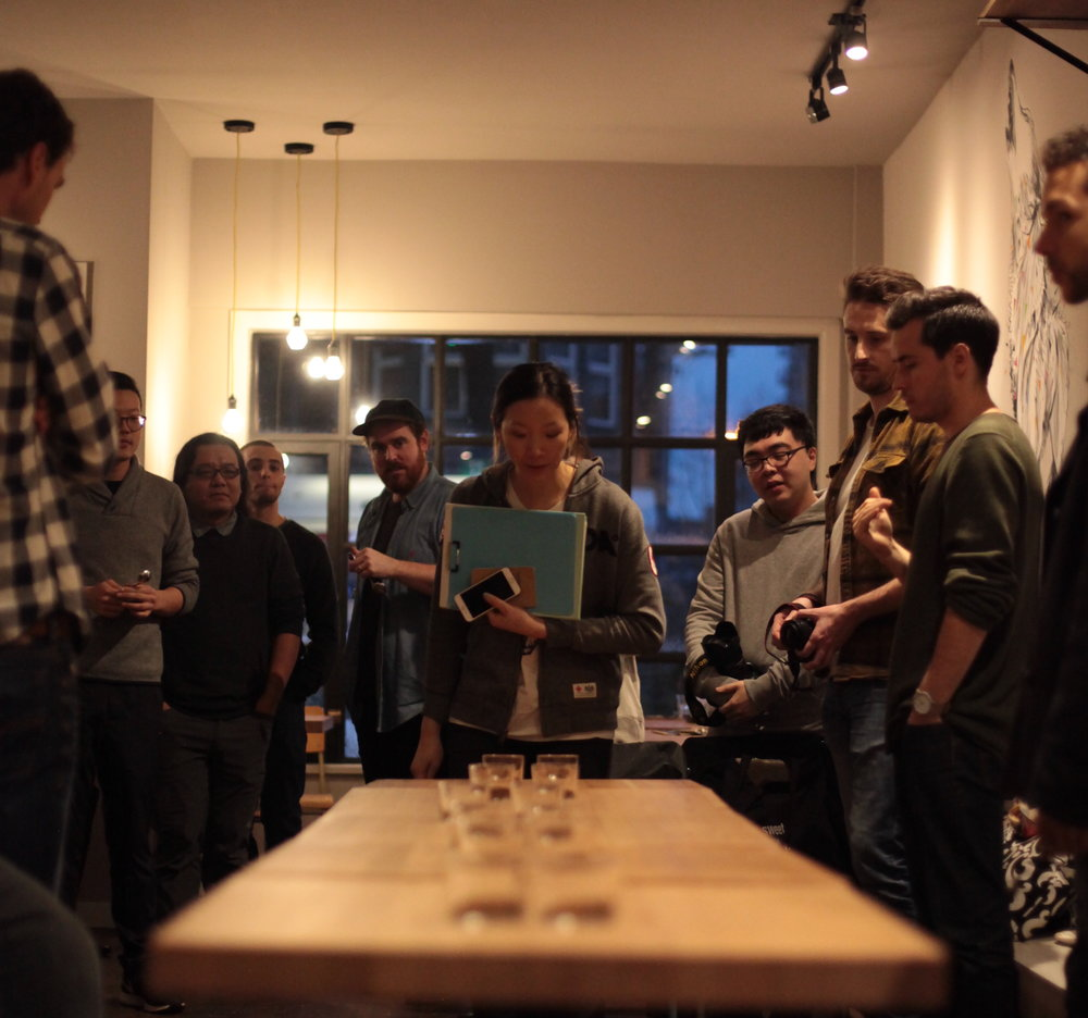 Vania Hosting a recent Coffee Potluck in Vancouver.