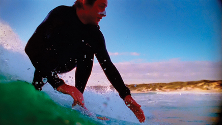 ACO's Richard Tognetti surfing