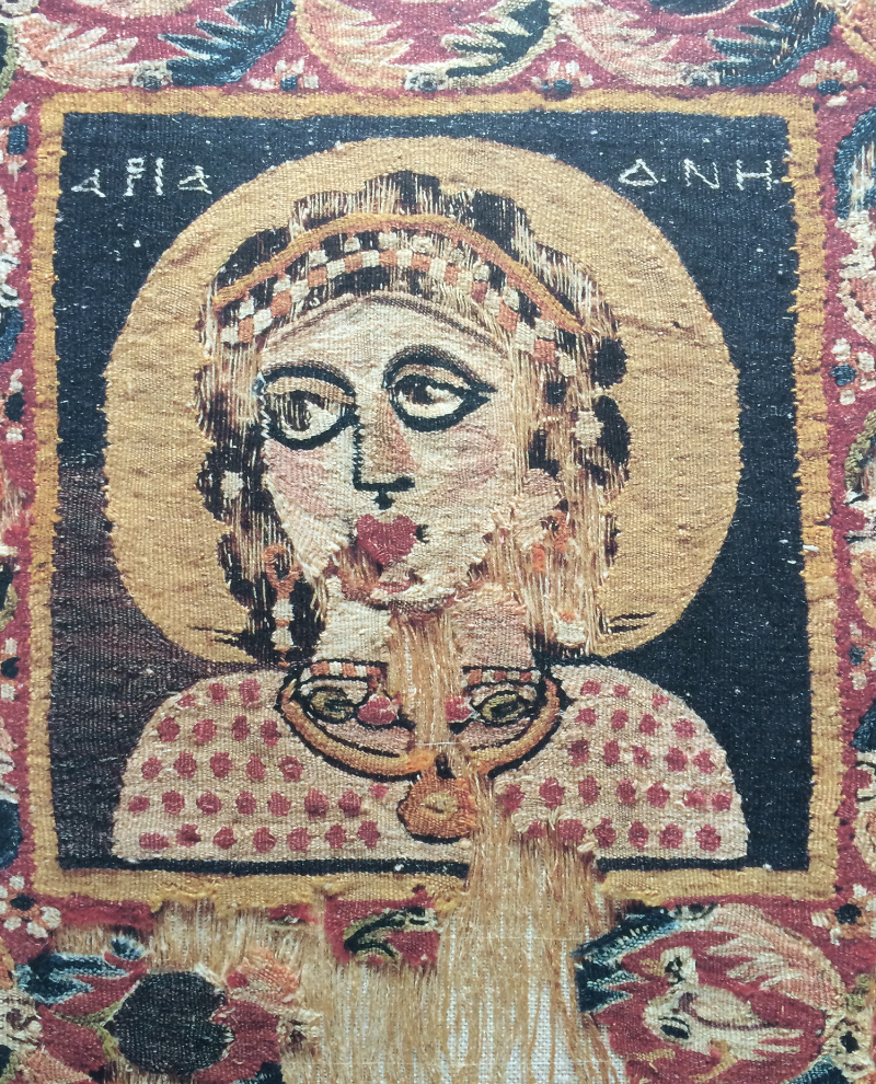 Ariadne, 5th century AD, woollen tapestry from Egypt