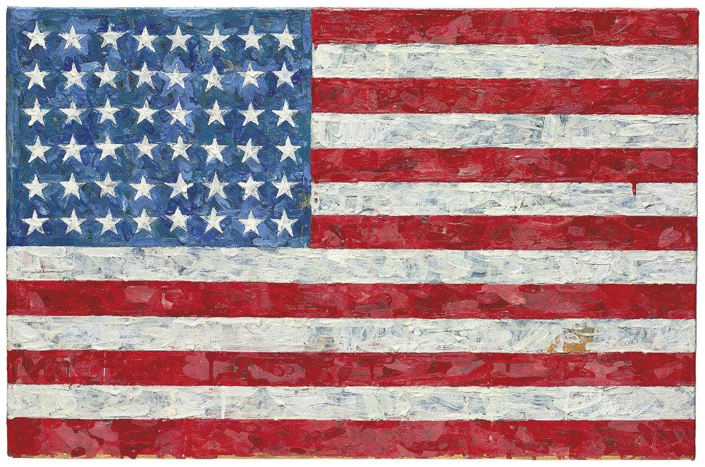 Jasper Johns, 'Flag', 1954-1955