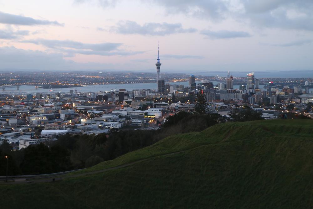Mt Eden (196m) - Blick auf AKL downtown
