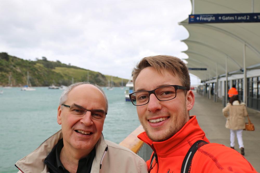 Paps zu Besuch in Auckland =)
