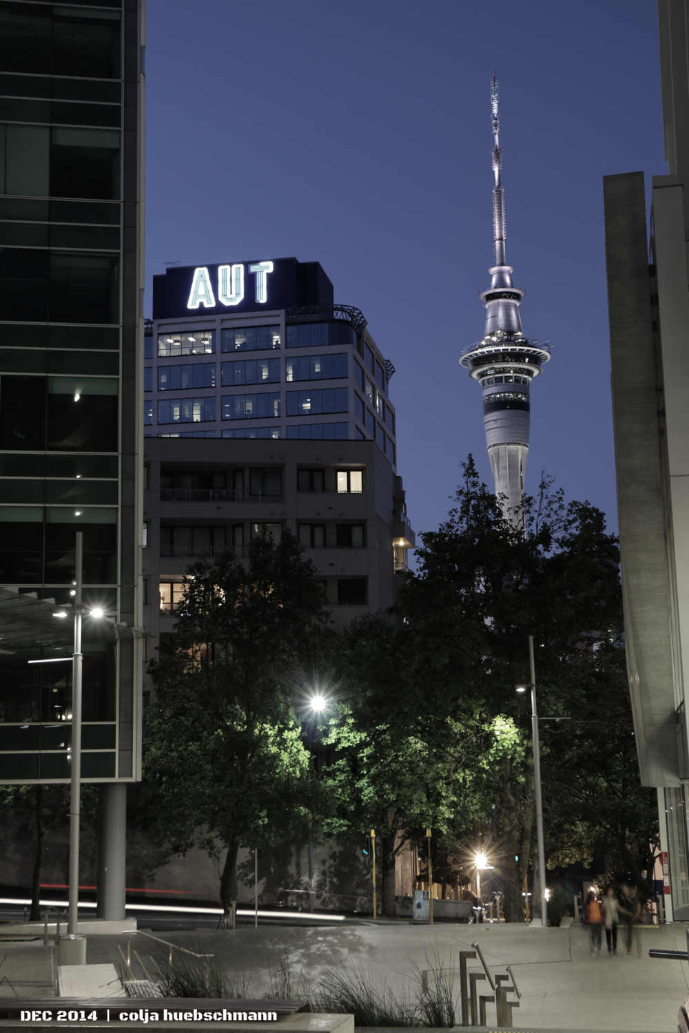 Sky Tower (View from AUT CAmpus)