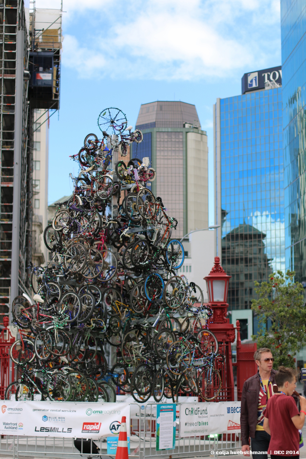 bicycle x-mas tree - ferry pier