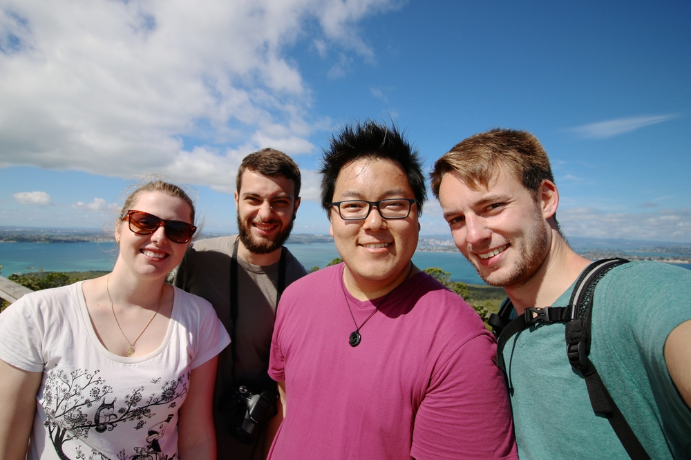 Alice, Gabriel, Alex and Me - Rangitoto Summit
