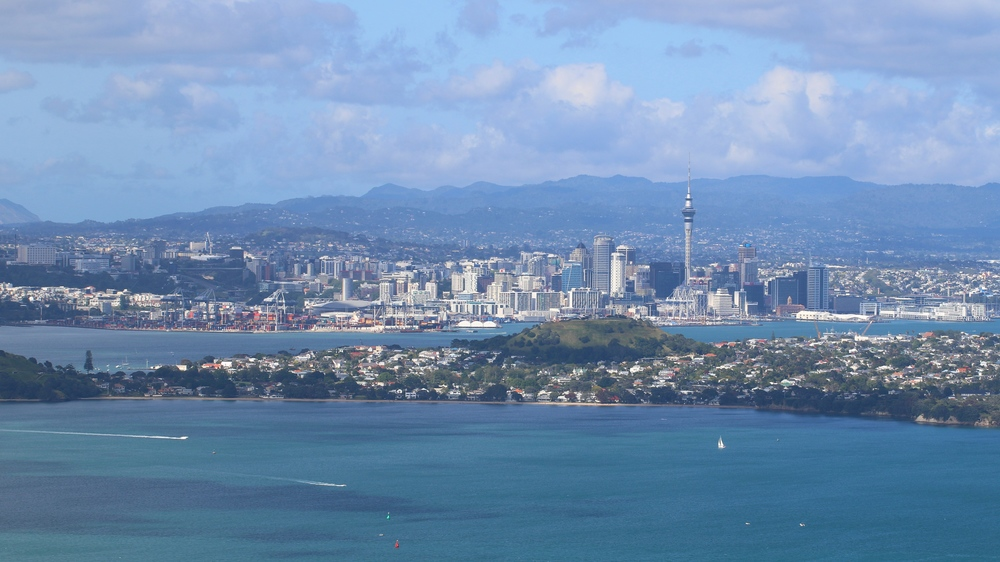 View over Auckland from Rangitoto Summit