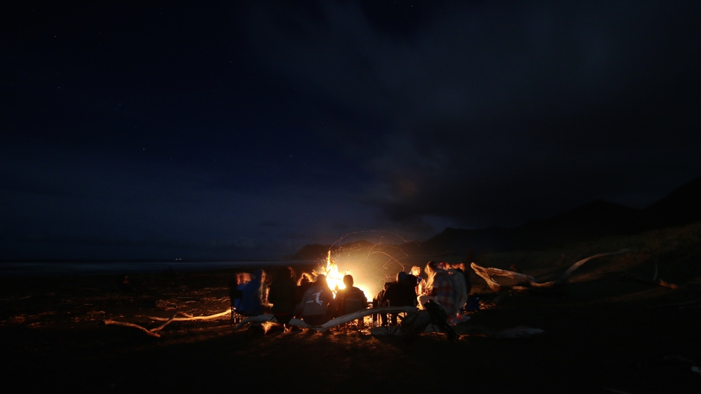 campfire at new years eve