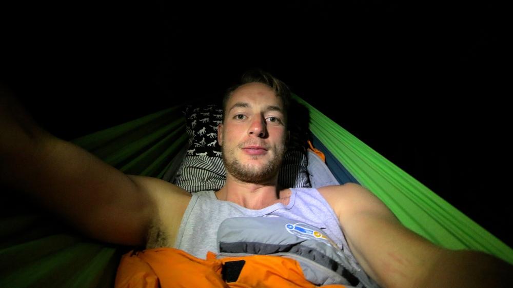 my first night in the hammock