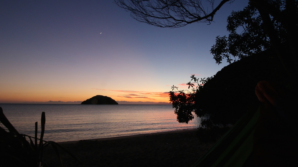 sunrise at onetahuti bay