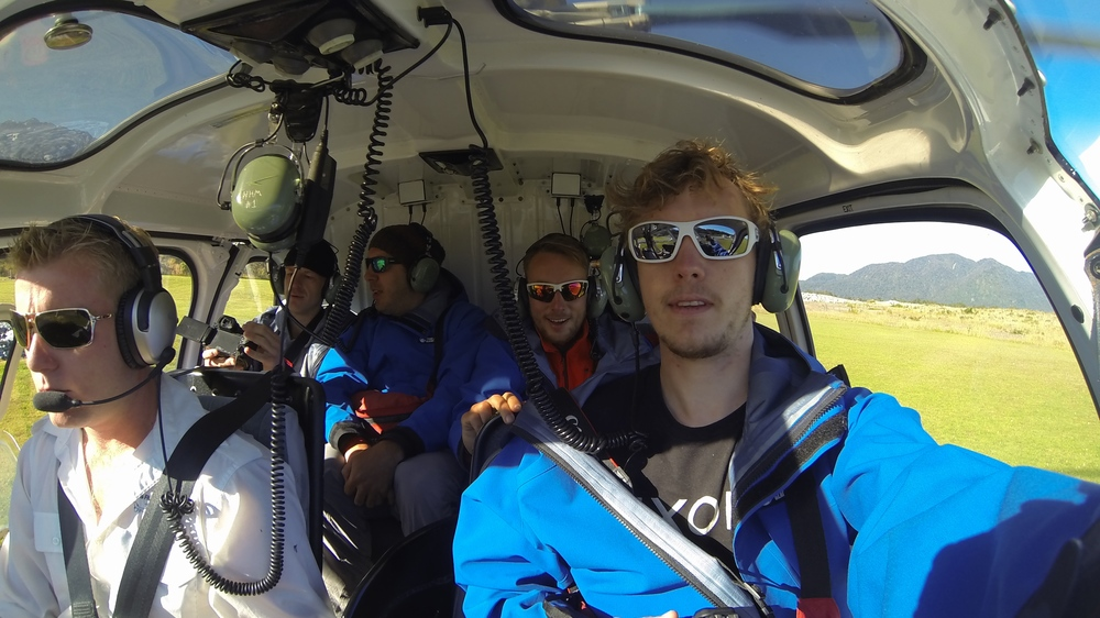 Heli Flight to the Glacier