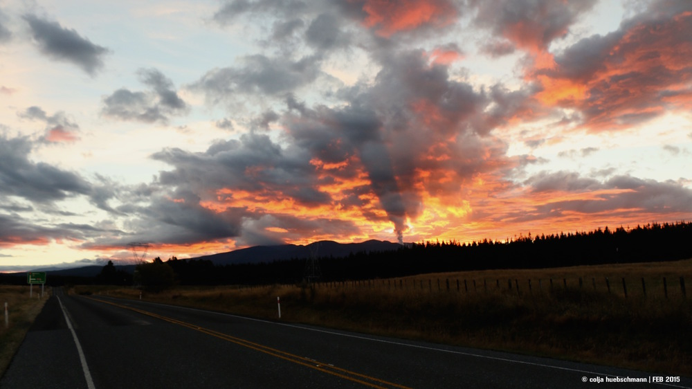 Sunset over Mt Ngauruhoe