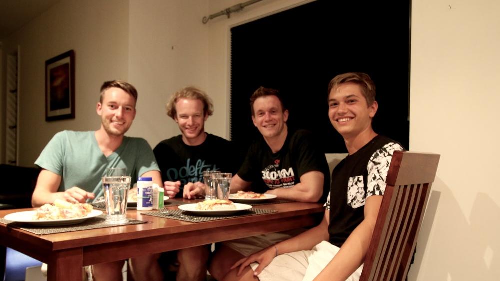 Me, Crishi, Mark and Leo