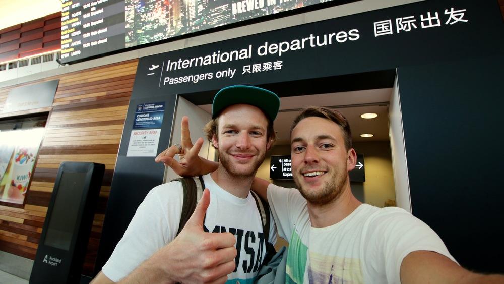 Crishi and me, at AKL Airport