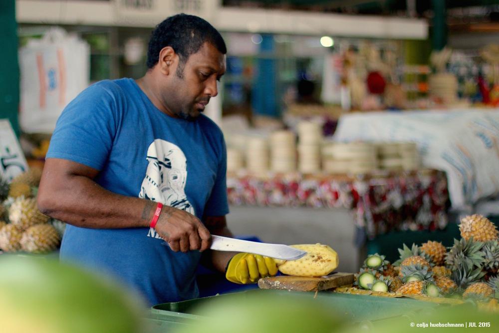 market in suva, fiji