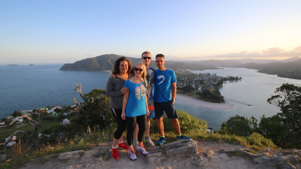 Jill, Michelle, Ben and Me on top of Mt Paku