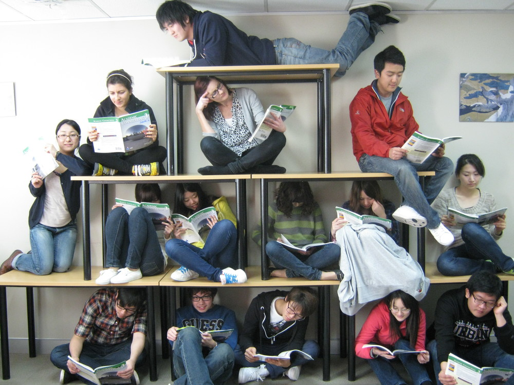Schüler in Aucklands Sprachschule