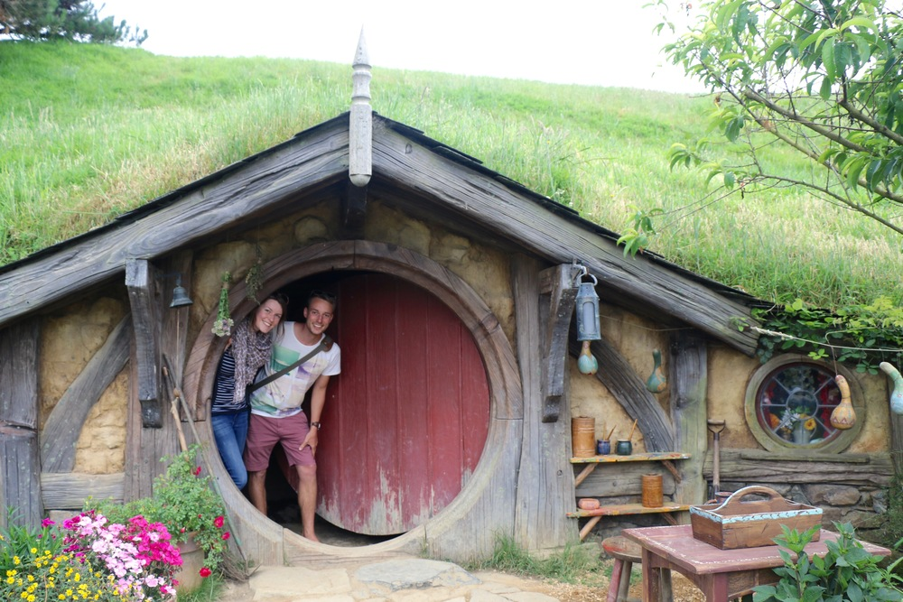Mary and I in the Hobbit Hole