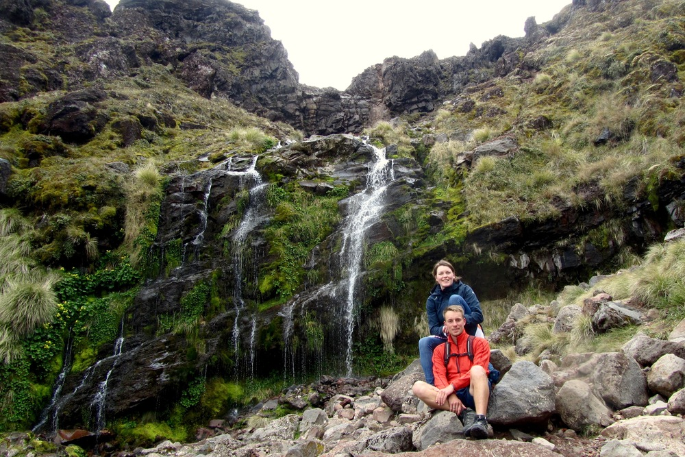 Mary and I at Soda Stream, Tongariro National Park