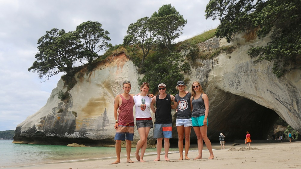 I, Mary, Ben, Sarah & Emma at Cathedral Cove