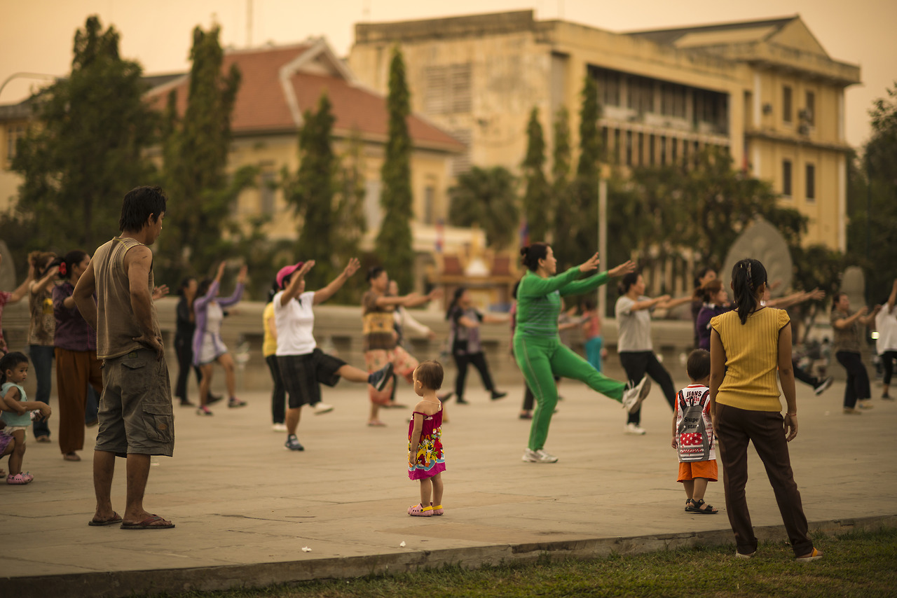 Dancing, Phnom Penh.