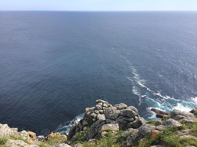 Walked to the end of the world. Can't go another step. Kilometer zero.  #finisterre #spain #camino #walking