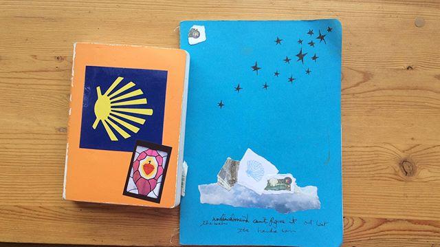 Camino notebook pages #camino #drawing #ink #walking