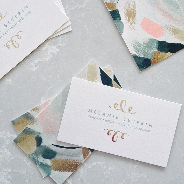 New business cards for the national stationery show melanieseverin colourmoves