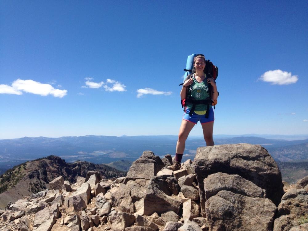 Atop Relay Peak. Atop the world. Relay Peak, 10,338'