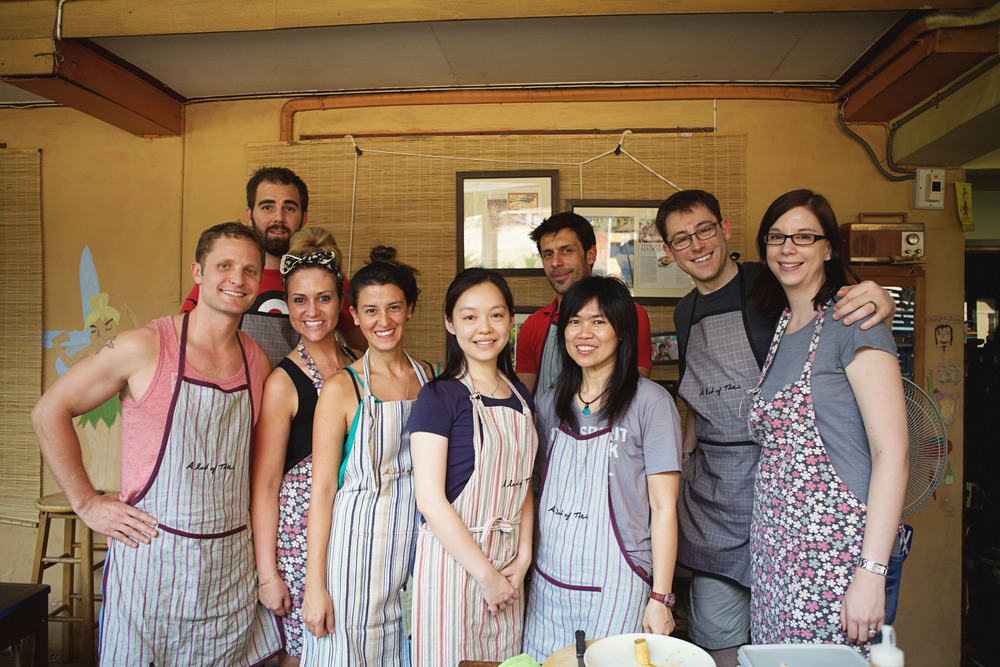 Group photo from the cooking course. Yui is third from the right. Photo courtesy of Meghan Leigh.