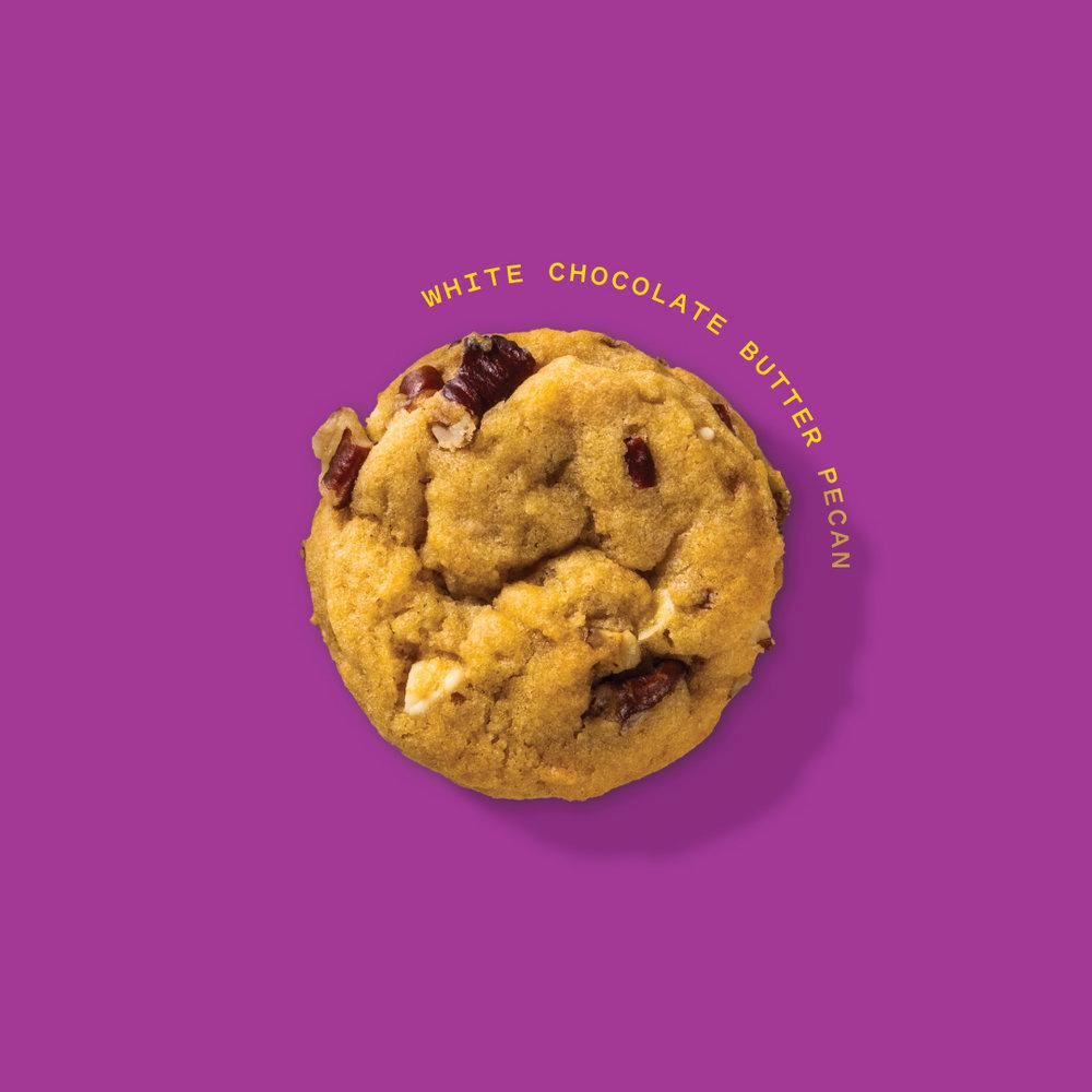 White Chocolate Chip Butter Pecan Cookie  100mg each // Seasonal 500mg Packs