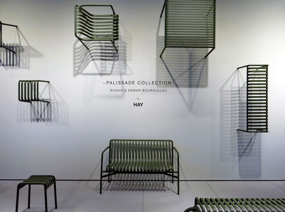 "NEW "" PALISSADE "" COLLECTION OF OUTDOOR FURNITURE FROM  HAY .  PHOTOGRAPHY COURTESY OF COOL HUNTING."