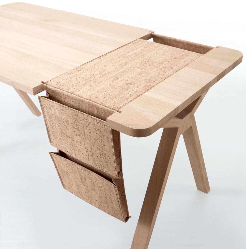 Desk With Cork Sadlebag
