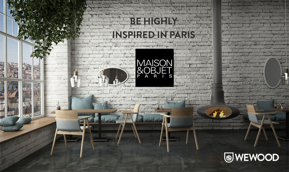 WEWOOD has already unveiled its presence at the upcoming MAISON & OBJET edition in January 2016. As usual, WEWOOD will be at Hall 7 and this year our stand will offer a comfy and cozy experience experience focused on the residential and contract projects. WEWOOD is truly commited with giving the experience to its visitors. Through the years, WEWOOD has always surprised and gone far beyond all the expectations with the exhibitions at the tradeshow. Last September edition, WEWOOD surprised everyone with a warm and elegant corner at Hall 7 and this time will be no different. Visit us from 22 to 26 of January at Hall 7 - Stand A39.