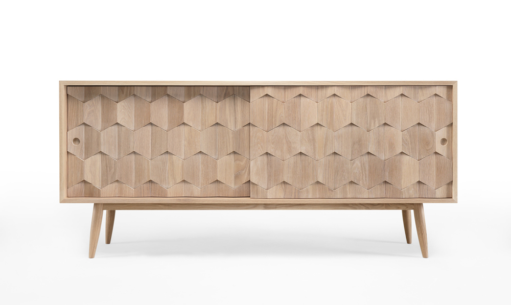 SCARPA sideboard   Its solid wood pattern will brighten your living room and create a timeless style!