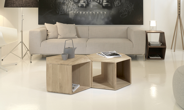 HEXA TABLE BY DANIEL VIEIRA FOR WEWOOD. Avaliable in solid oak or in solid walnut.
