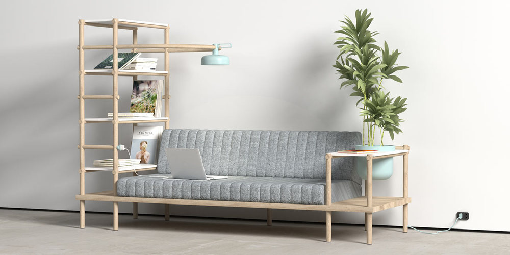 HERB SOFA BY BURAK KOCAK   It's a multifunctional sofa and a living space which combines different functions and creates the sofa which we spend most of our time.