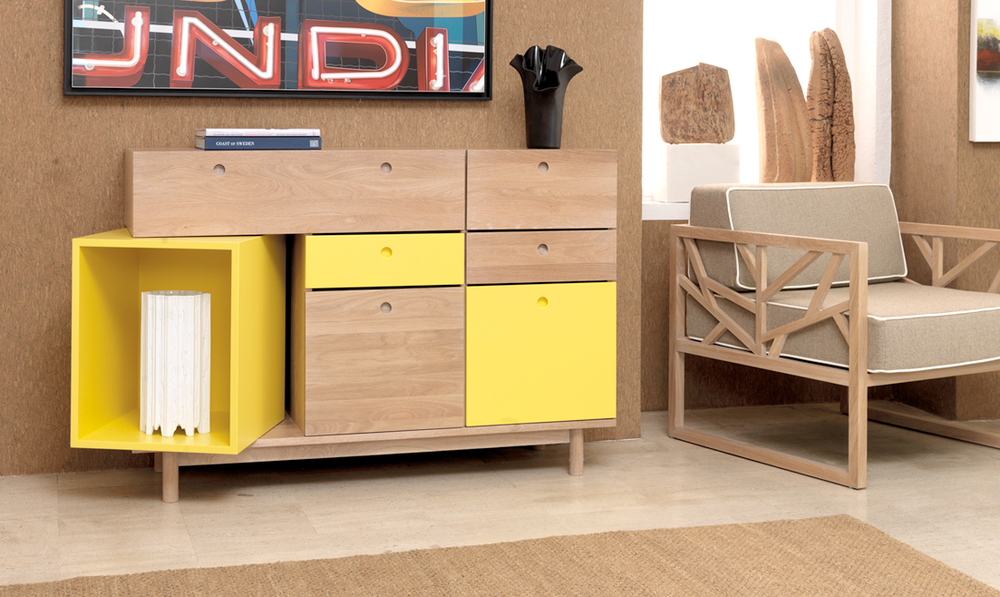 PANDORA sideboard    Pandora  is the perfect piece for the Summer, bringing touches of vibrant color to your living room.