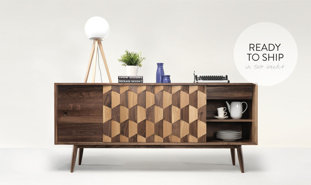 WEWOOD designed this beautiful textured sideboard by using traditional joinery techniques.